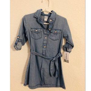 NWT Carter's toddler girl denim dress 3T